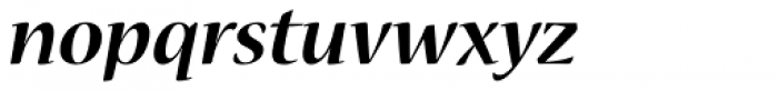 Nueva Std Bold Italic Font LOWERCASE