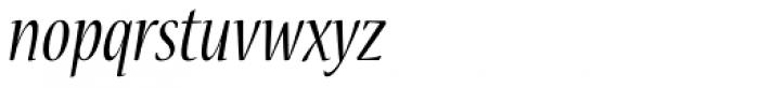 Nueva Std Cond Italic Font LOWERCASE