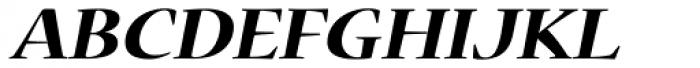 Nueva Std Ext Bold Italic Font UPPERCASE