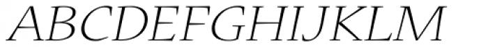 Nueva Std Ext Light Italic Font UPPERCASE