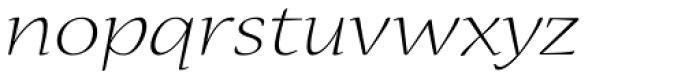 Nueva Std Ext Light Italic Font LOWERCASE