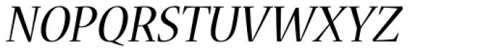 Nueva Std Italic Font UPPERCASE