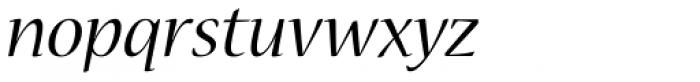 Nueva Std Italic Font LOWERCASE
