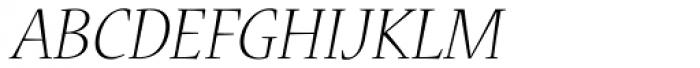 Nueva Std Light Italic Font UPPERCASE