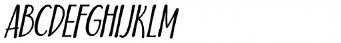 Nuit Italic Font UPPERCASE