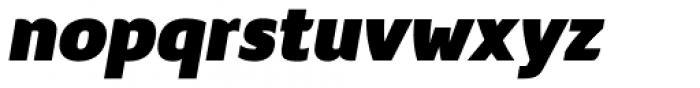 Nula Heavy Italic Font LOWERCASE
