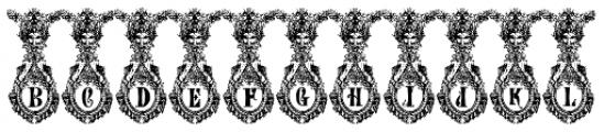 Numa Initials Font LOWERCASE