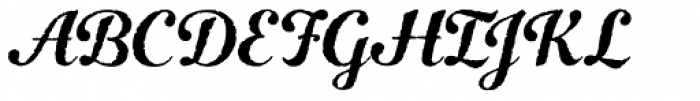 Number Five Rough Basic Font UPPERCASE