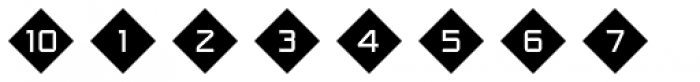 Numbers Style One-Diamond Negative Font OTHER CHARS