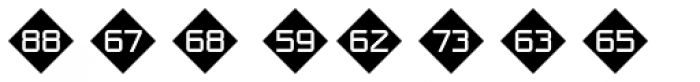 Numbers Style One-Diamond Negative Font UPPERCASE