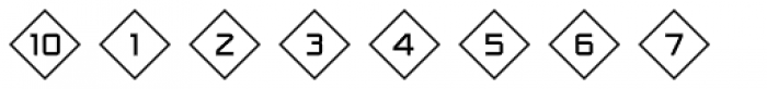 Numbers Style One-Diamond Positive Font OTHER CHARS