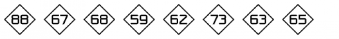 Numbers Style One-Diamond Positive Font UPPERCASE