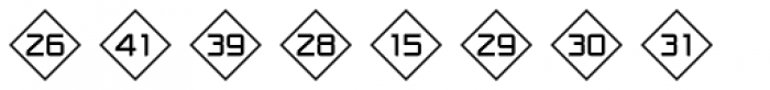 Numbers Style One-Diamond Positive Font LOWERCASE