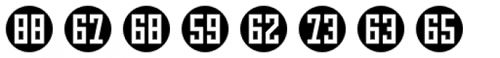 Numbers Style Three-Circle Negative Font UPPERCASE