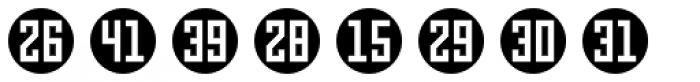 Numbers Style Three-Circle Negative Font LOWERCASE