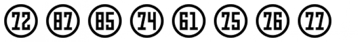 Numbers Style Three-Circle Positive Font UPPERCASE