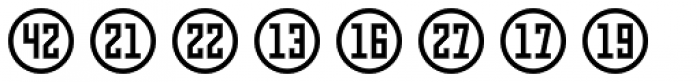 Numbers Style Three-Circle Positive Font LOWERCASE