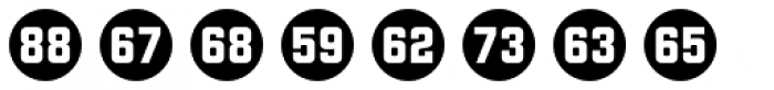 Numbers Style Two-Circle Negative Font UPPERCASE