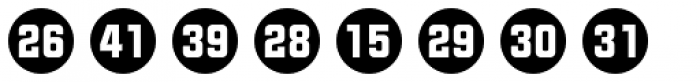 Numbers Style Two-Circle Negative Font LOWERCASE