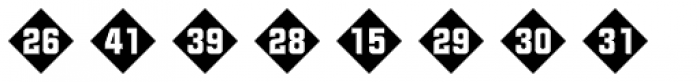 Numbers Style Two-Diamond Negative Font LOWERCASE