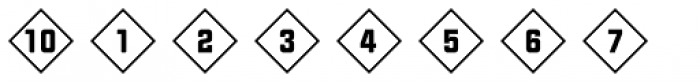 Numbers Style Two-Diamond Positive Font OTHER CHARS
