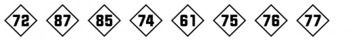 Numbers Style Two-Diamond Positive Font UPPERCASE