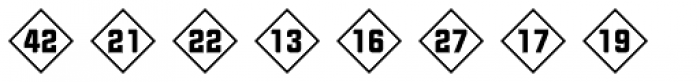 Numbers Style Two-Diamond Positive Font LOWERCASE