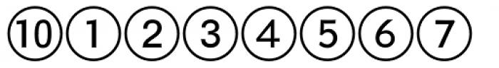 Numerics P02 Font OTHER CHARS