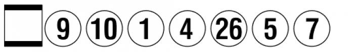 Numerics P02 Font UPPERCASE