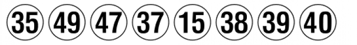 Numerics P02 Font LOWERCASE