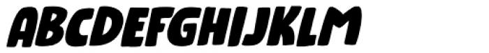 Numpty Italic Font UPPERCASE