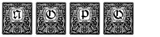 Nurnberg Schwabacher Font UPPERCASE