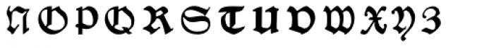 Nurnberg Schwabacher Font LOWERCASE