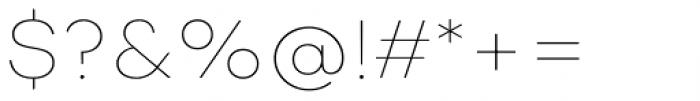 Nutmeg Headline Thin Font OTHER CHARS