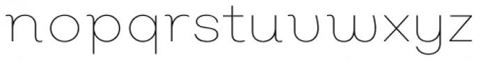 Nutmeg Headline Thin Font LOWERCASE