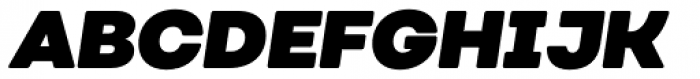 Nutmeg Headline Ultra Black Italic Font UPPERCASE