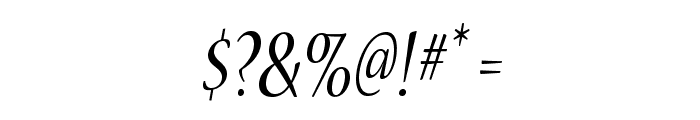 NuevaStd-CondItalic Font OTHER CHARS