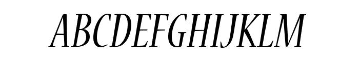 NuevaStd-CondItalic Font UPPERCASE