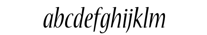NuevaStd-CondItalic Font LOWERCASE