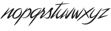 NWB Tahiti Script otf (400) Font LOWERCASE