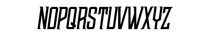 NWBMarvisDisplayPro-Slant Font UPPERCASE
