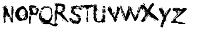 Nyctophobia Font UPPERCASE