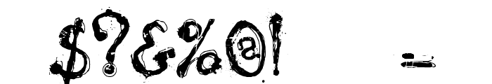 Nyctophobia Font OTHER CHARS