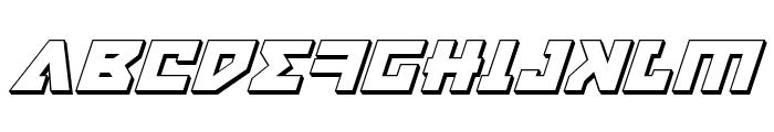 Nyet 3D Italic Font UPPERCASE