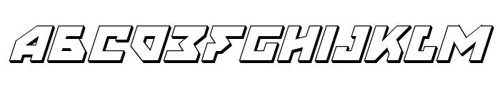 Nyet 3D Italic Font LOWERCASE