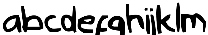 Nyonya Gendut Normal Font LOWERCASE