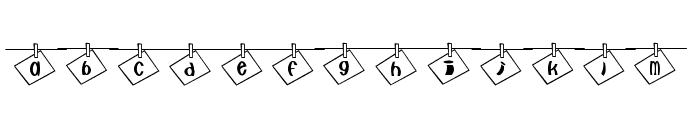 nya-memo Font Font LOWERCASE