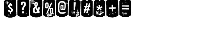 Nyxali Regular Font OTHER CHARS