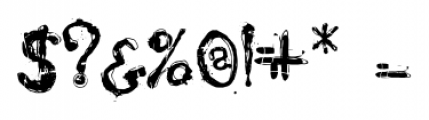 Nyctophobia Regular Font OTHER CHARS