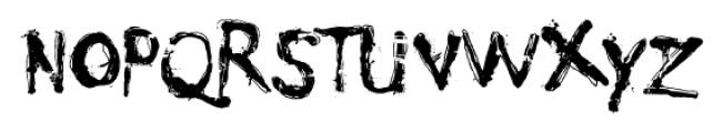 Nyctophobia Regular Font LOWERCASE